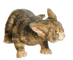 """Cat Stalking Brown (0.625""""H x 0.75""""W x 1.75""""D)"""