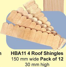 Roof Shingles Pack of 12 (150W x 30Hmm)