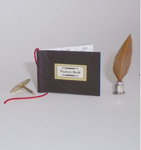 Visitors Book and Quill Set by Michelle's Miniatures