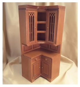 "Cambridge Manor Corner Cabinet Cherry (3' W x 3"" D x 7-9/16"" T)"