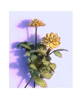 MINIATURE DOLLHOUSE 1:12 SCALE FLOWER KIT DAHLIA YELLOW  001-0026