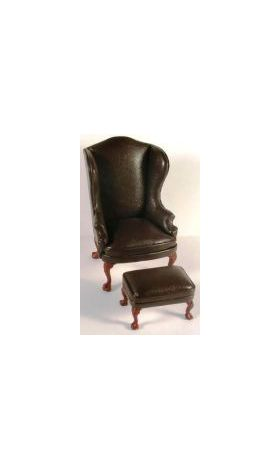Brown  Leather Armchair Only (70W x 60D x 108Hmm)